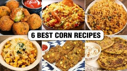 6 Best Corn Recipes   How To Make Corn Recipes For Kids   Corn Bhel   Corn Rice   Cheese Corn Ball