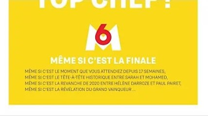 """""""Top chef"""" : M6 encourage ses spectateurs à ne pas regarder la finale pour profiter de la réouvertur"""