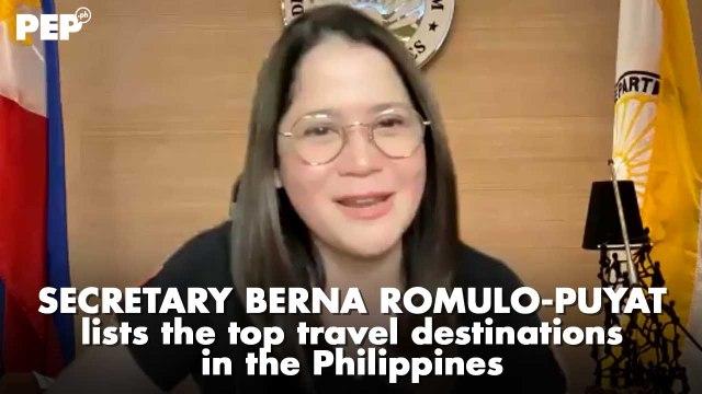 Ito ang NEXT TOP TRAVEL DESTINATION sa Pinas ayon kay Secretary Berna Romulo-Puyat | PEP