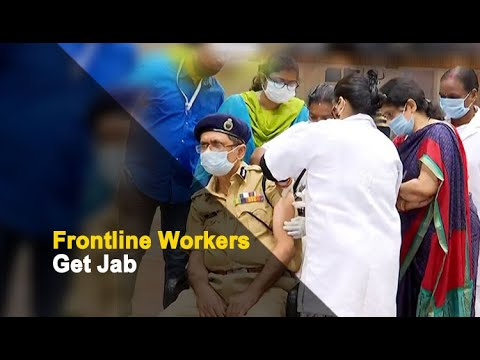 COVID-19 Vaccination Drive: Police & Admin Officials Get Shots   OTV News