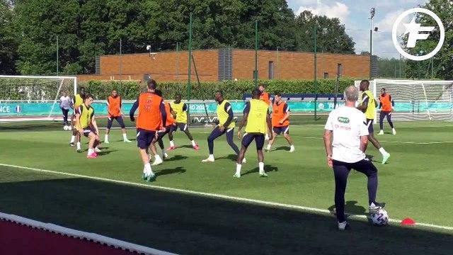 Équipe de France  : le duo Kylian Mbappé-Olivier Giroud brille à l'entraînement
