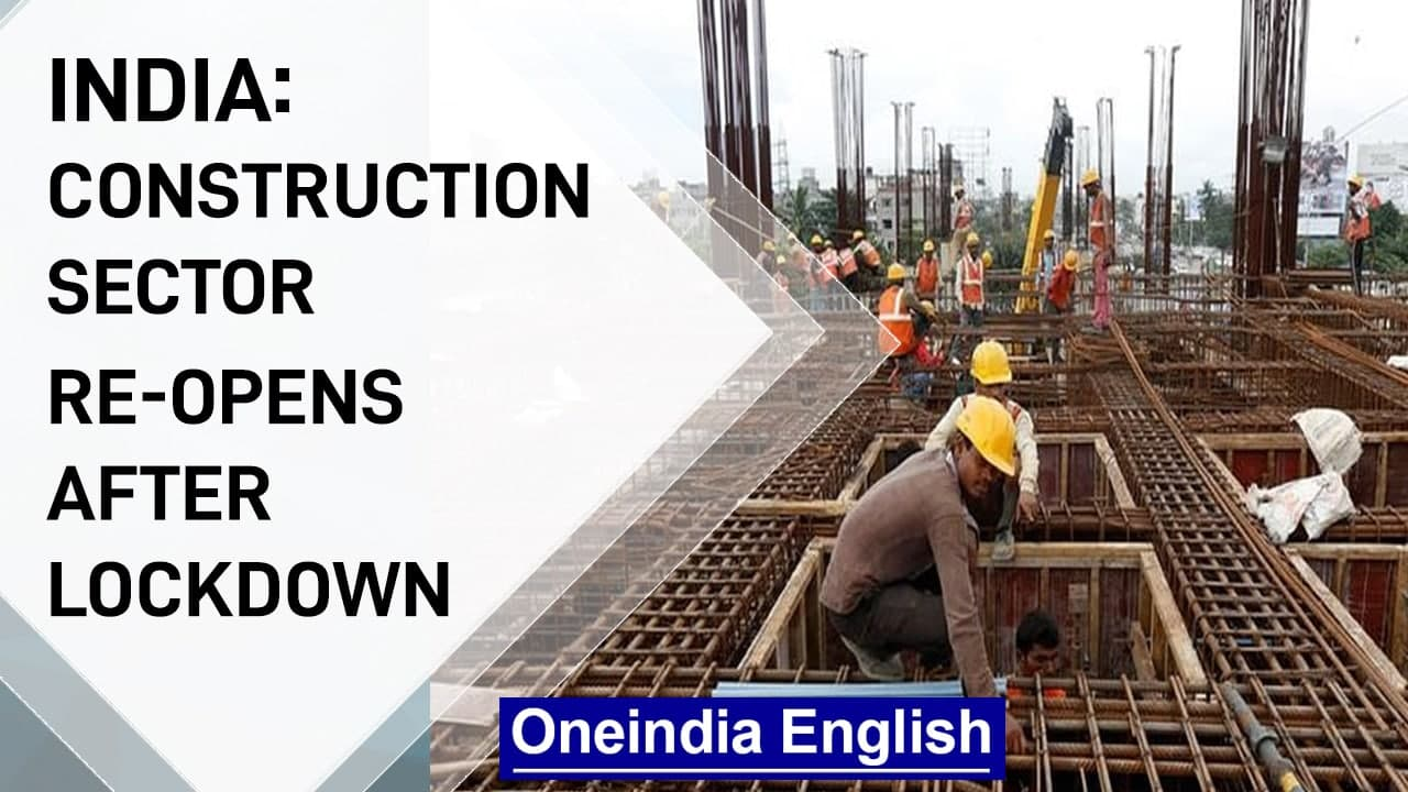 India: Construction sector re-opens after lockdown| Covid-19 | Oneindia News