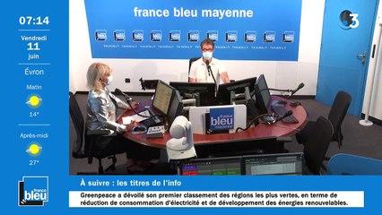 11/06/2021 - La matinale de France Bleu Mayenne