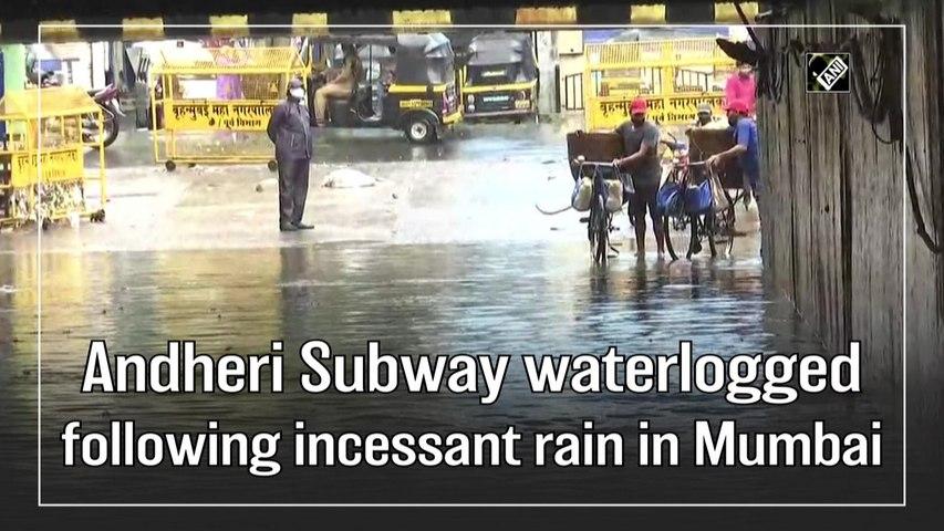 Andheri Subway waterlogged following incessant rain in Mumbai