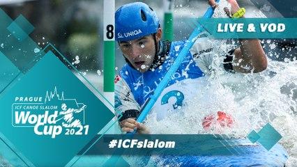 2021 ICF Canoe-Kayak Slalom World Cup Prague Czech Republic / Canoe Heats