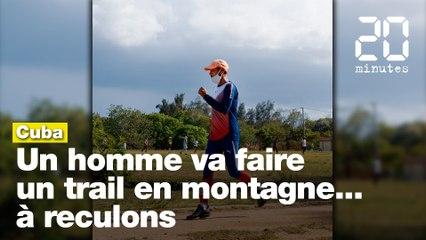 Cuba : Un homme s'apprête à faire un trail en montagne... à reculons