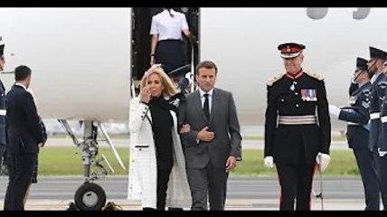 Brigitte Macron : Élégante en noir et blanc pour l'ouverture du G7 avec Emmanuel Macron