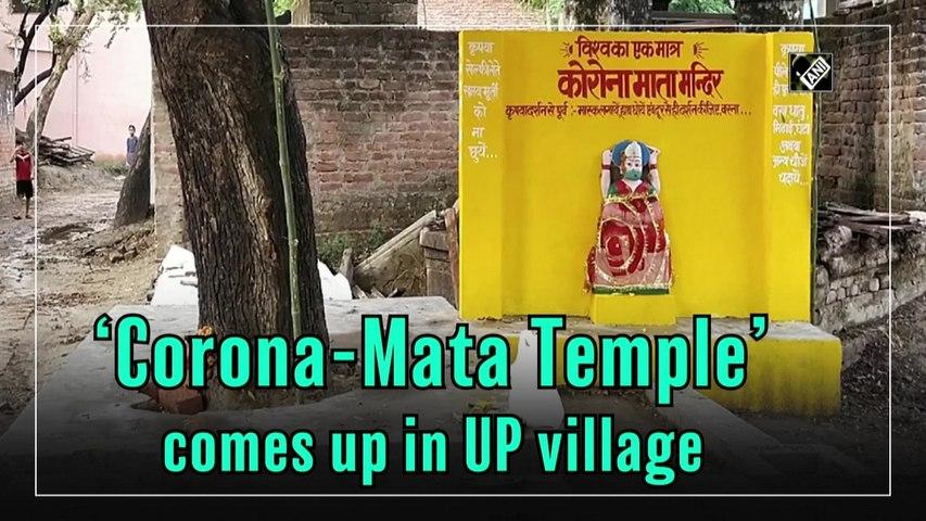 'Corona-Mata Temple' comes up in Uttar Pradesh village