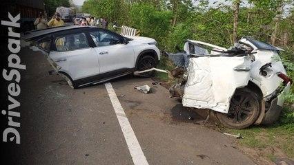 Kia Seltos Splits In Half During Crash In Madhya Pradesh,பாலத்தில் மோதி இரண்டாக உடைந்த செல்டோஸ் கார்