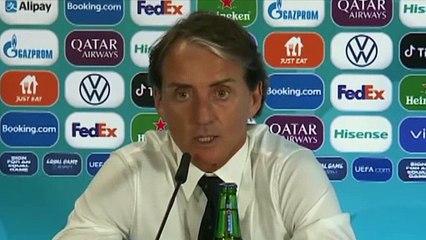 Football - Euro 2021 - Roberto Mancini press conference after Turkey 0-3 Italia