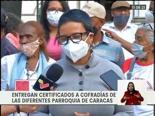 Alcaldía de Caracas entrega certificados a Cofradías Sanjuaneras en vísperas del Bicentenario