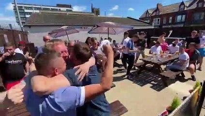 Hartlepool fans celebrate win