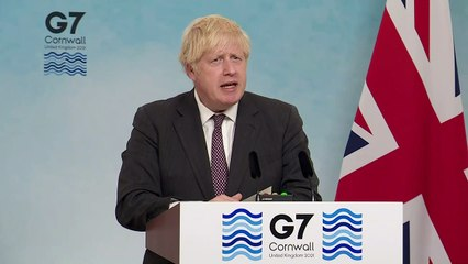 Boris Johnson outlines G7 climate commitment