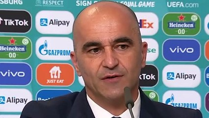 Football - Euro 2021 - Roberto Martinez press conference after Belgium 3-0 Russia