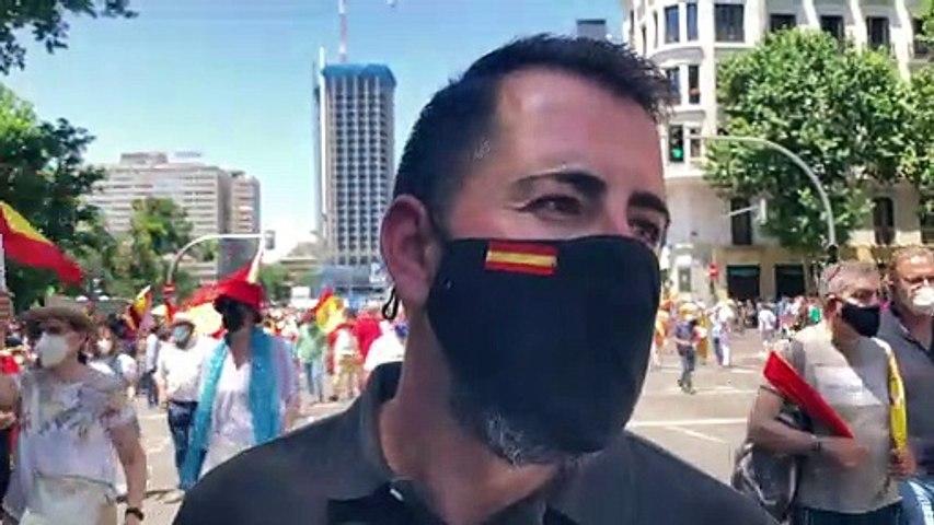 Manifestació a la plaça Colón de Madrid · Ruben