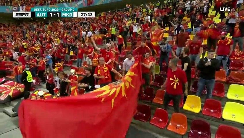 Austria 1-1 North Macedonia - Goran Pandev Goal - 13.06.2021