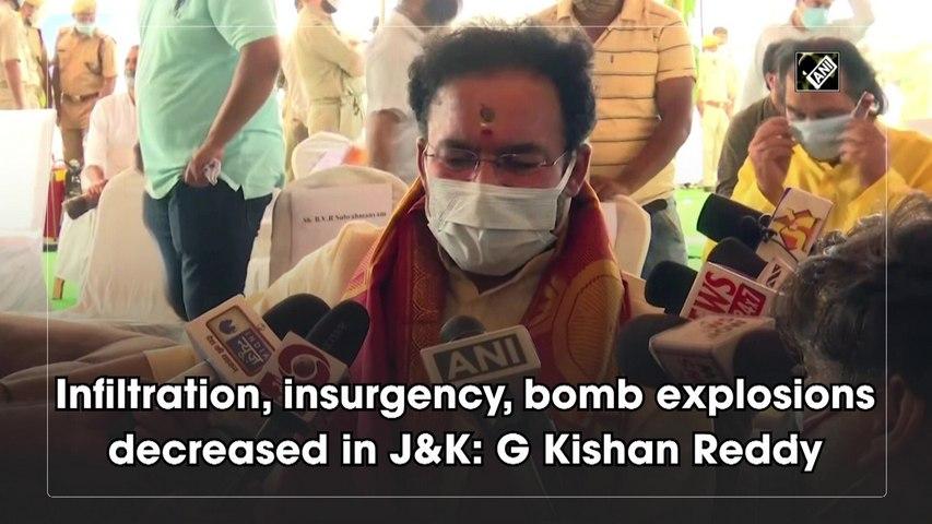 Infiltration, insurgency, bomb explosions decreased in J&K: G Kishan Reddy