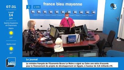 14/06/2021 - La matinale de France Bleu Mayenne