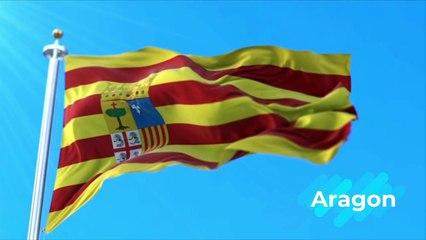 Espagne : les drapeaux de ses régions