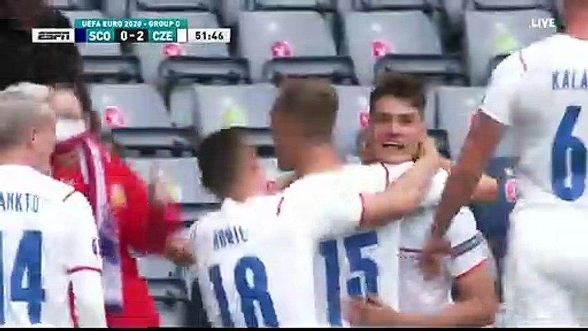 Scotland 0-2 Czech Republic - Patrik Schick 2nd Goal - 14.06.2021