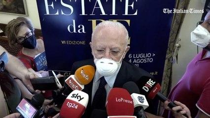 """Vaccini Covid, De Luca: """"No a seconda dose con vaccino diverso. Mancano i dati"""""""
