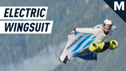 The world's first electric wingsuit soars the skies at mind-boggling speed