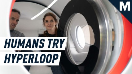 These are the first human passengers to try hyperloop travel