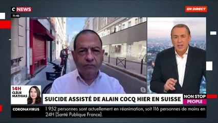Le suicide assisté d'Alain Cocq hier pose question - Débat avec Emmanuel Hirsch sur le plateau de «Morandini Live» sur CNews - VIDEO