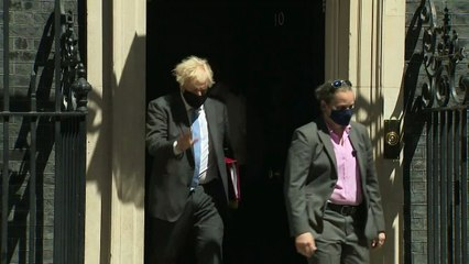 Boris Johnson departs Downing Street