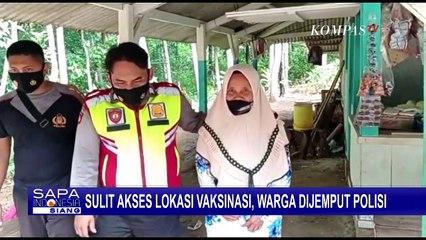 Polisi Jemput Warga yang Kesulitan Akses Lokasi Vaksinasi Covid-19