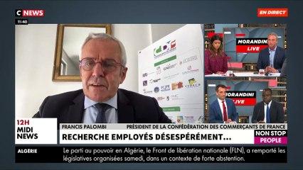 """En colère, Francis Palombi, le président de la Confédération des Commerçants de France, dénonce """"l'impuissance de l'Etat face aux géants comme Amazon"""""""