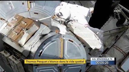 Regardez la sortie dans l'espace de l'astronaute français Thomas Pesquet aux côtés de l'Américain Shane Kimbrough pour installer un nouveau panneau solaire sur la Station spatiale internationale - VIDEO
