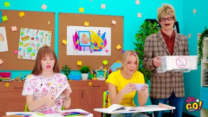 RAINBOW SCHOOL LIFE! Epic Rainbow School Supplies Ideas And Clever Hacks by 123 GO Like!