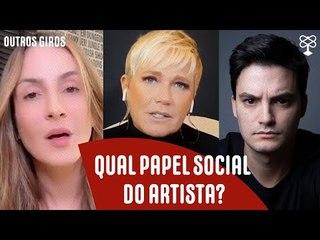 Claudia Leitte, Felipe Neto e Xuxa reacendem a discussão do posicionamento político de artistas