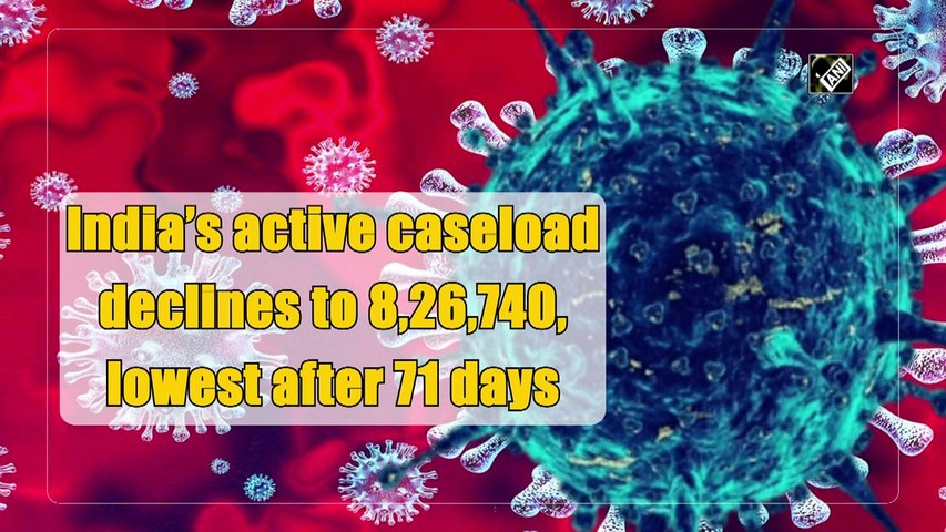 India's active Covid caseload declines to 8,26,740, lowest after 71 days