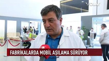 Bursa'da fabrikada aşı dönemi başladı