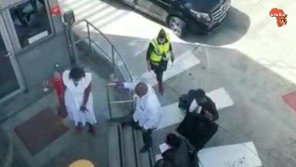 L'arrivée de Laurent Gbagbo  à l'aéroport de Bruxelles
