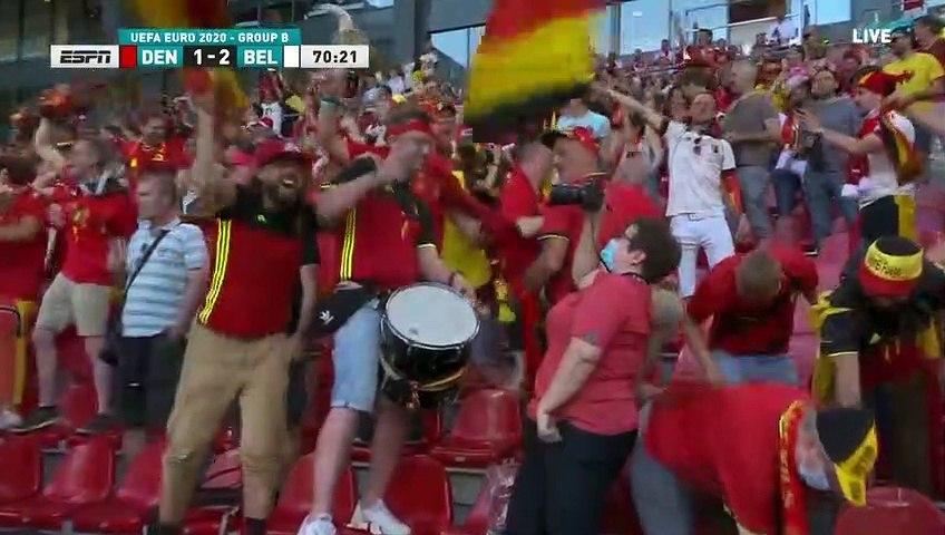 Denmark 1-2 Belgium - Kevin de Bruyne goal - 17.06.2021