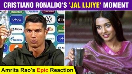 Amrita Rao's Jal Lijiye Gets A Epic TWIST By Footballer Cristiano Ronaldo
