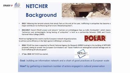 Les résultats du projet NETCHER