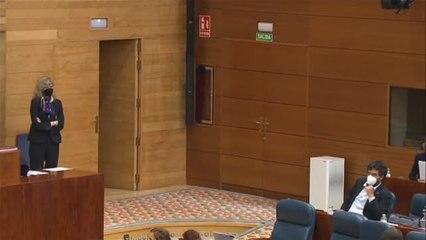 Bronco debate de investidura de Díaz Ayuso en la Asamblea de Madrid