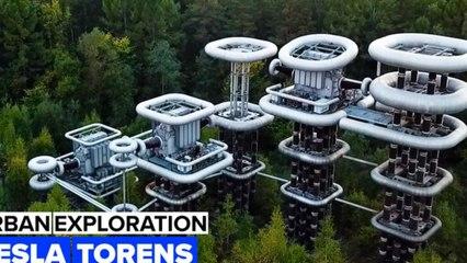 Urban Exploration: Vlieg over deze gigantische futuristische hoogspanningstorens