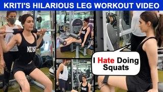 Kriti Sanon FUNNY Gym Post | 'I Hate Squats', Struggles On Her Leg Day