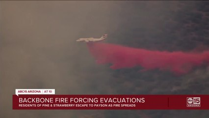 Backbone fire forcing evacuations near Pine and Strawberry