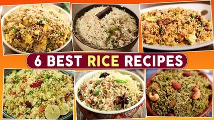 6 Best Rice Recipes   Chicken Fried Rice   Egg Fried Rice   Lemon Rice   Coriander Rice