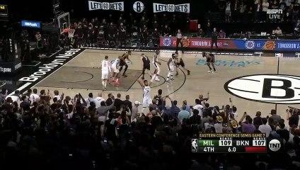 Le tir de Kevin Durant pour arracher la prolongation face aux Bucks