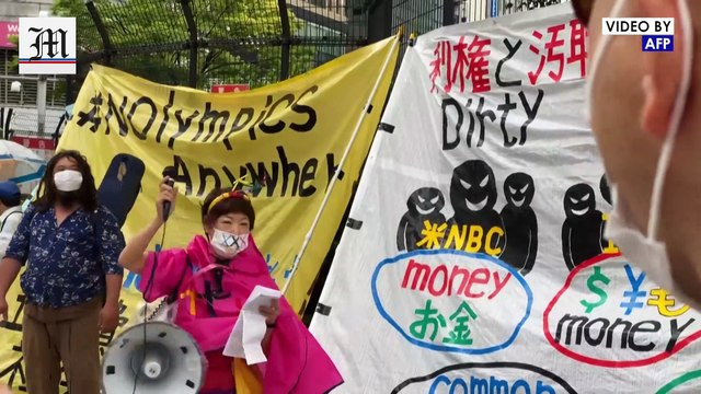 Anti-Olympic protesters rally as Tokyo Games just over a month away