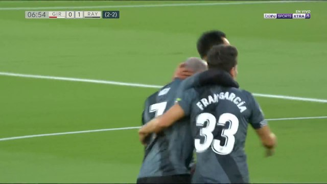 Girona 0-1 Rayo: Gol de Álvaro García