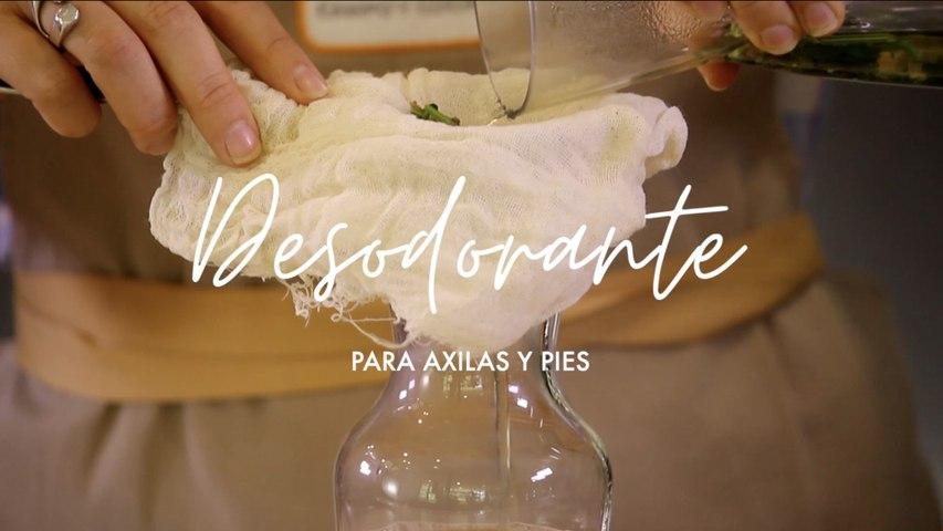 Desodorante casero para axilas y pies - Plantas medicinales - Cómo preparar en casa