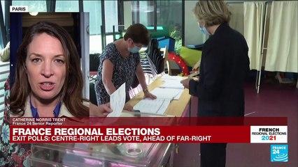 France regional elections: Conservative Valérie Pécresse leads vote in Paris region